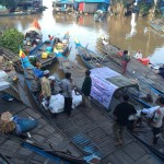 sampan di kampung air kemboja