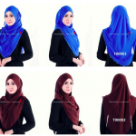 tudung biru world of hijab