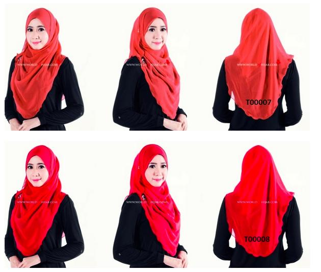 tudung merah world of hijab