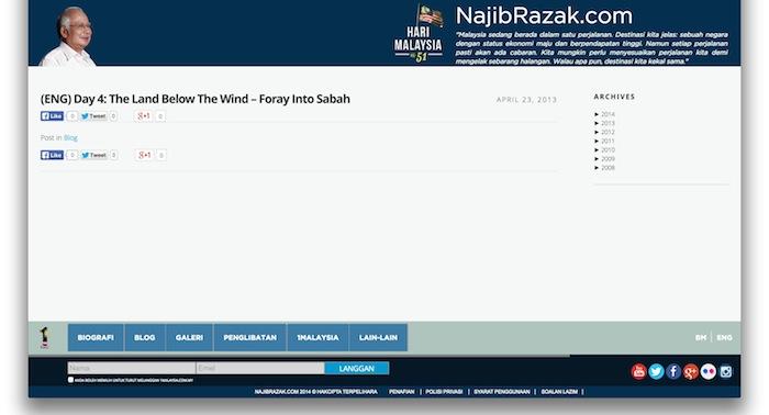 Paparan blog najibrazak.com tanpa terjemahan