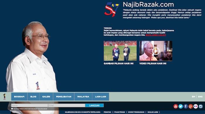 Ulasan laman najibrazak.com
