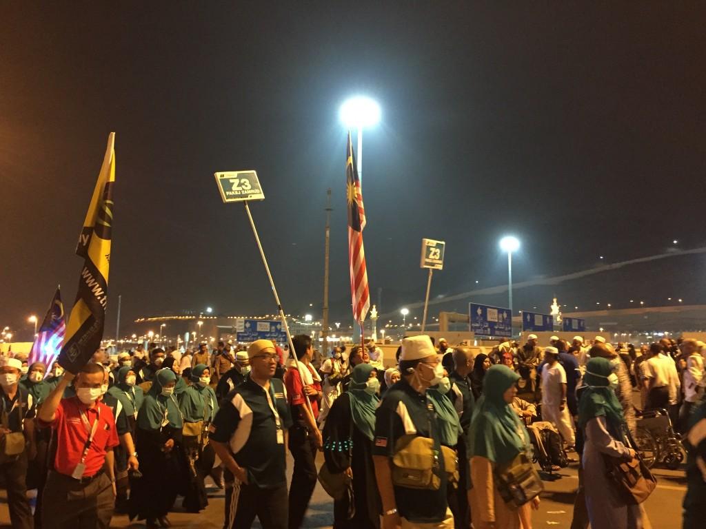 gambar Jemaah Malaysia di Mina