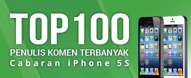 Senarai top 100 komen terbanyak Contest iPhone 5S