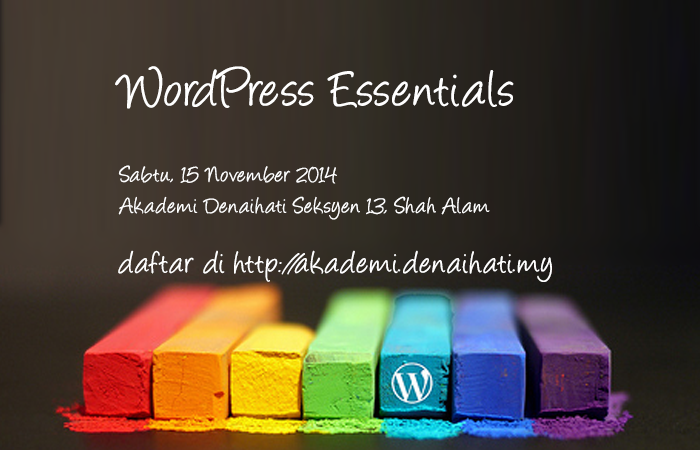 WordPress Essentials di Akademi Denaihati
