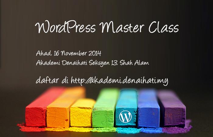 Akademi Denaihati - WordPress Master Class