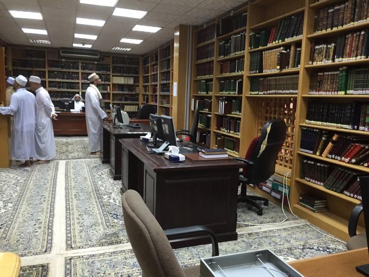 perpustakaan kitab asli masjid nabawi
