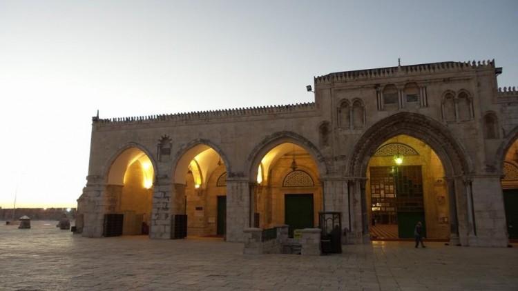 masjid al aqsa di waktu senja