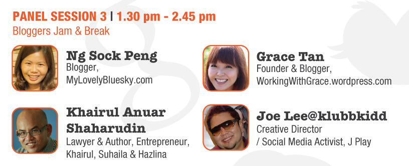panel blogger jam and break