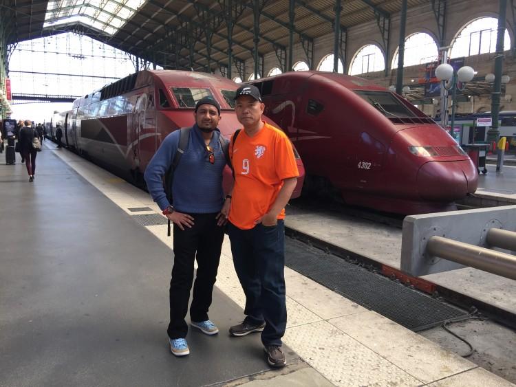 Keretapi laju Thalys ke Amsterdam