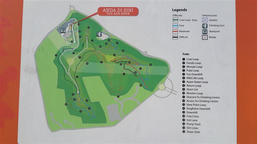 Peta Taman Cabaran Putrajaya