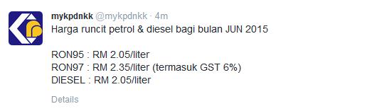 harga diesel jun 2015