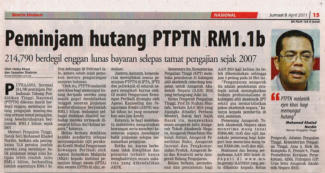 Berita hutang PTPTN