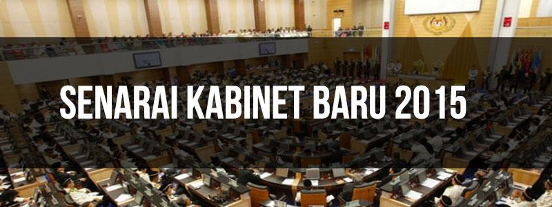 Senarai kabinet baru 2015