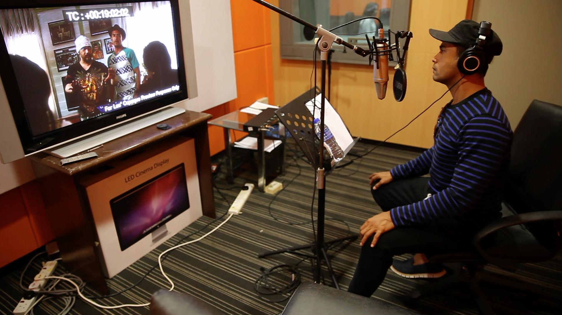 Proses 'voice over' oleh Remy Ishak yang membawa watak sebagai Bo
