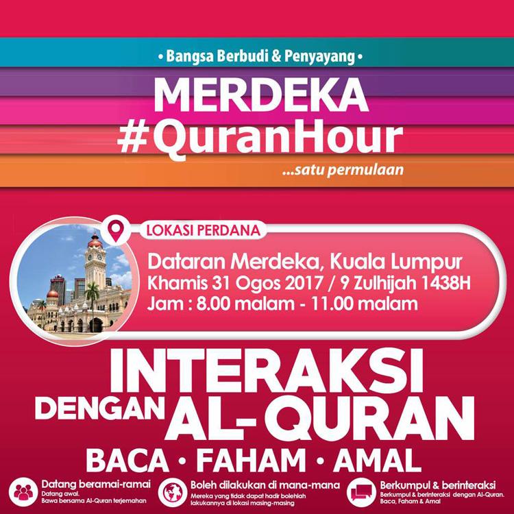 Merdeka QuranHour Countdown
