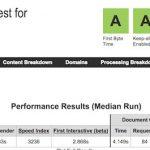 keputusan skor menggunakan webpagetest