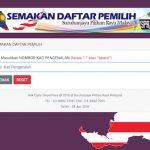 semakan daftar pemilih di portal SPR