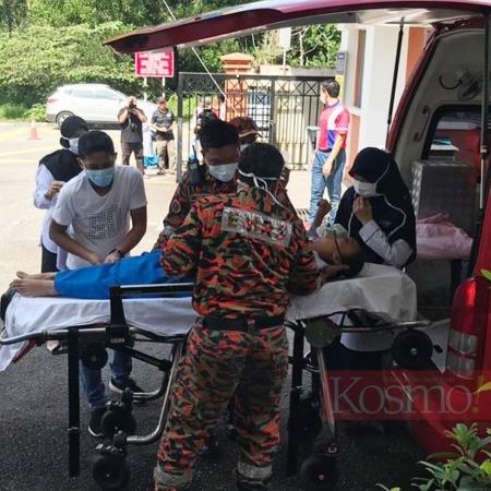 Puluhan pelajar dikejarkan ke hospital, kejadin sesak nafas di Pasir Gudang berulang lagi!